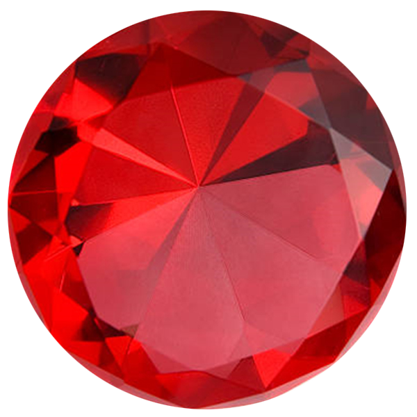 GLASS FILLED RUBY